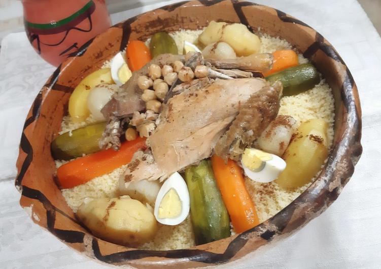 Comment faire Préparer Parfait Couscous poulet légumes oeufs durs 🍴