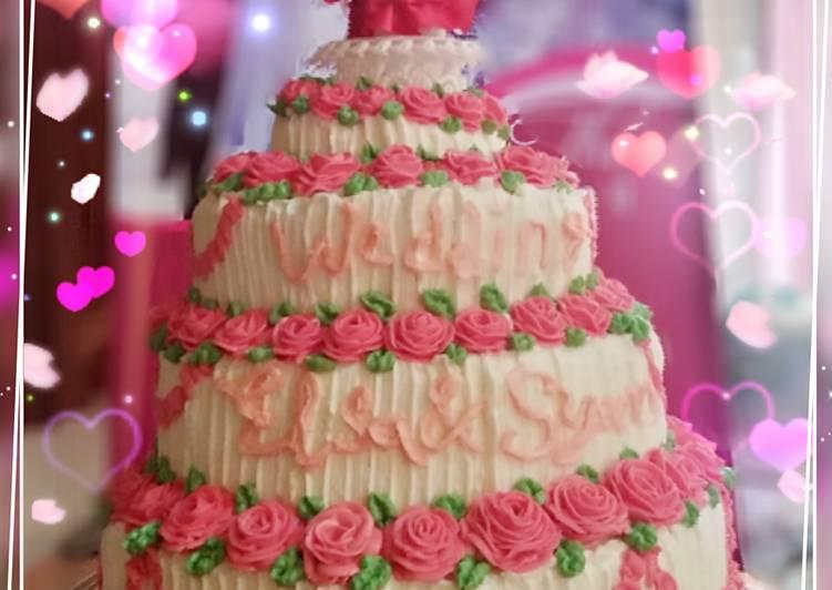 Resep Kue Pengantin Mawar Tingkat Oleh Nabila Amira Cookpad