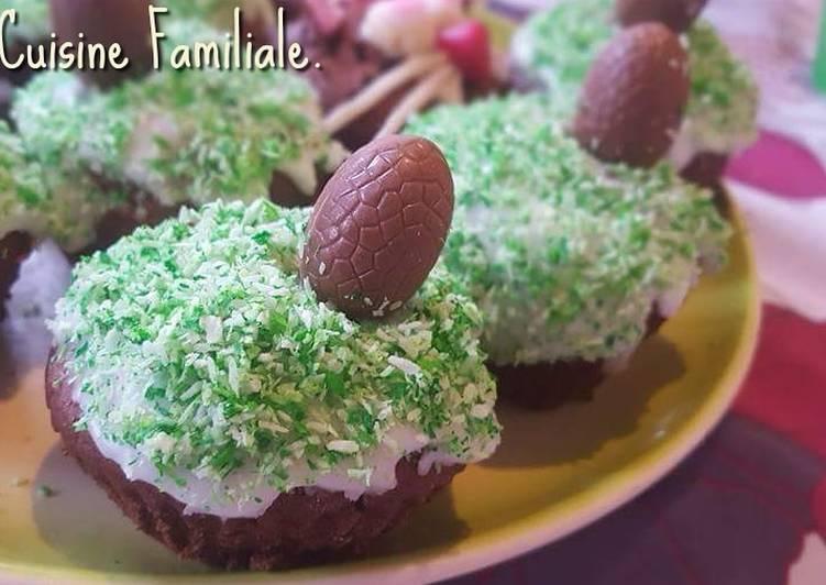 La Recette Pas à Pas Muffins de Pâques au chocolat