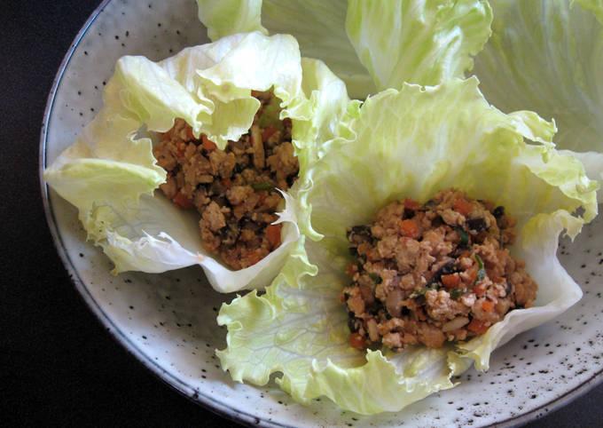 Scrumptious Tofu & Vegetable Miso in Lettuce Cups