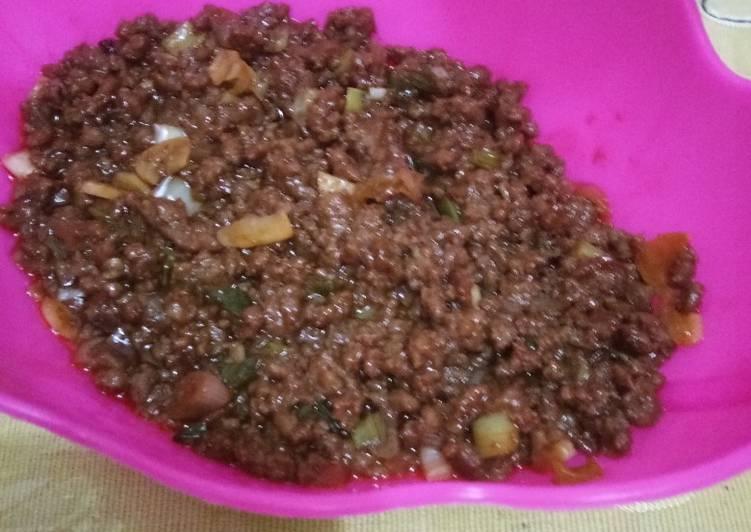 Resep Tumis Daging sapi giling isian roti goreng/bakpao Paling Joss