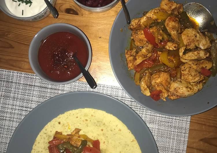 Tortillas au poulet