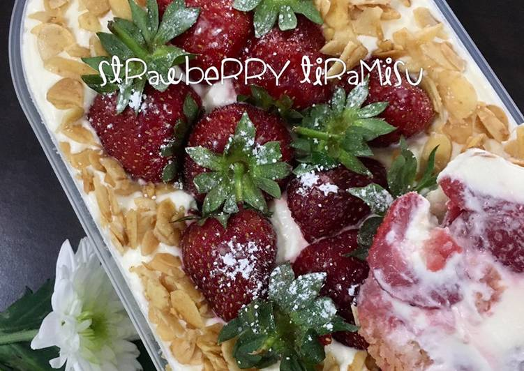 Strawberry tiramisu (no coffee, kids friendly)