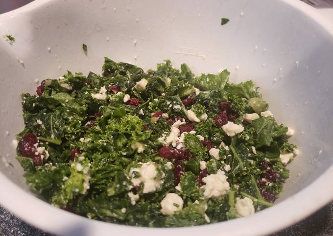Simple Way to Prepare Homemade Savory, sweet, simple kale salad