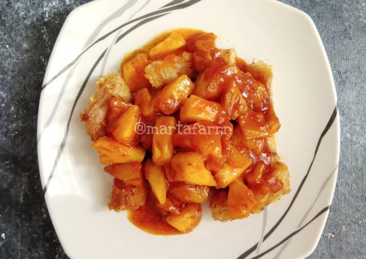 Resep Tuna goreng tepung sambal nanas oleh faradilamarta - Cookpad