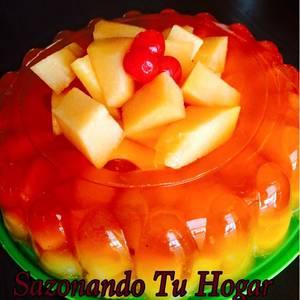 Gelatina de Durazno con Frutas Tropicales?