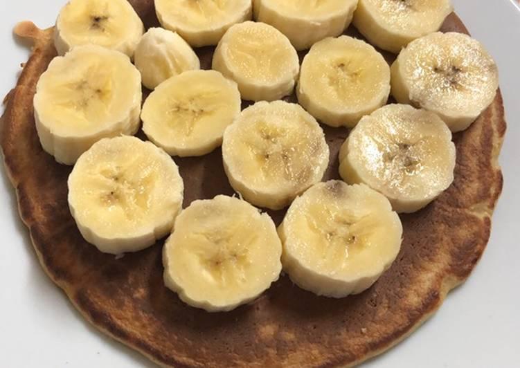 Tortitas de avena con plátano