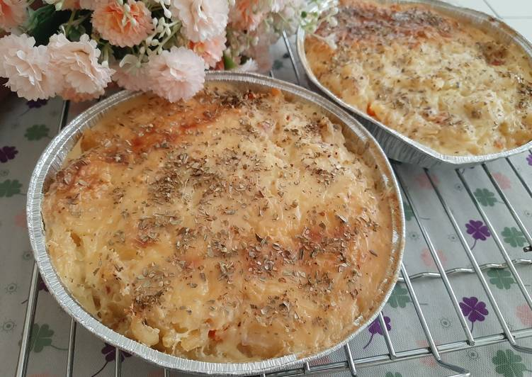 Cheesy Macaroni Schotel panggang