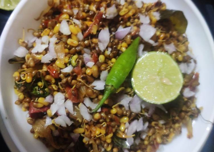 Sprouted moong stir fry