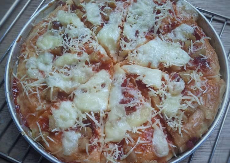 Pizza Smoked Beef ala Dina / Tanpa Ulen