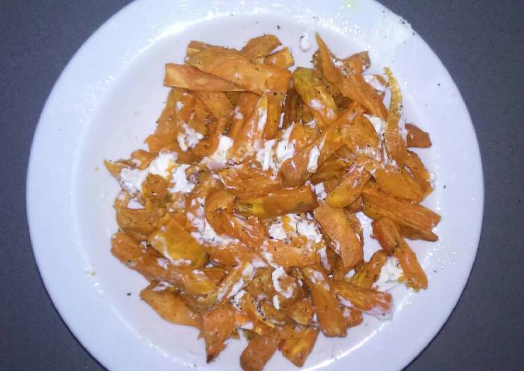 Sweet Potatoes with goat cheese