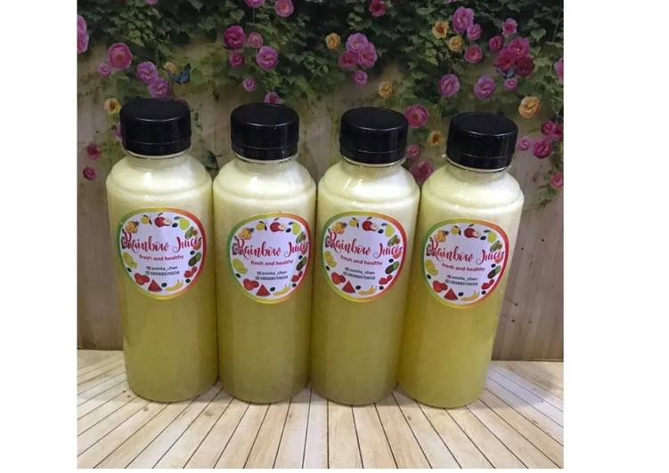 Cara mudah membuat Diet Juice Cauliflower Pineapple Melon Lime