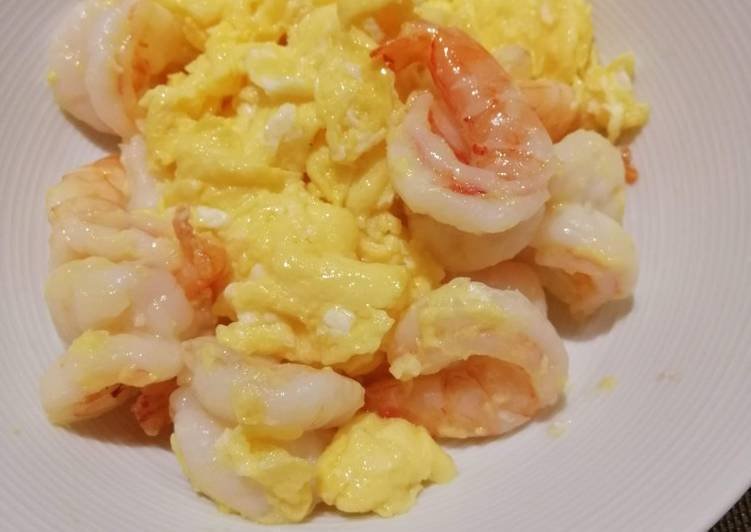 Recipe: Delicious Egg with Shrimps