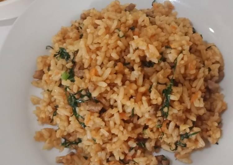 Nasgor Daging (menu balita)