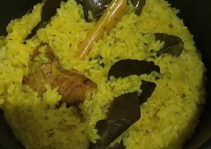 Bagaimana Menyiapkan Nasi kuning magic com , Lezat Sekali