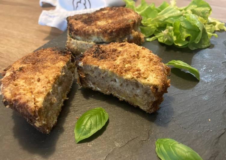 Sandiwch de mozzarella (mozzarella in carrozza)