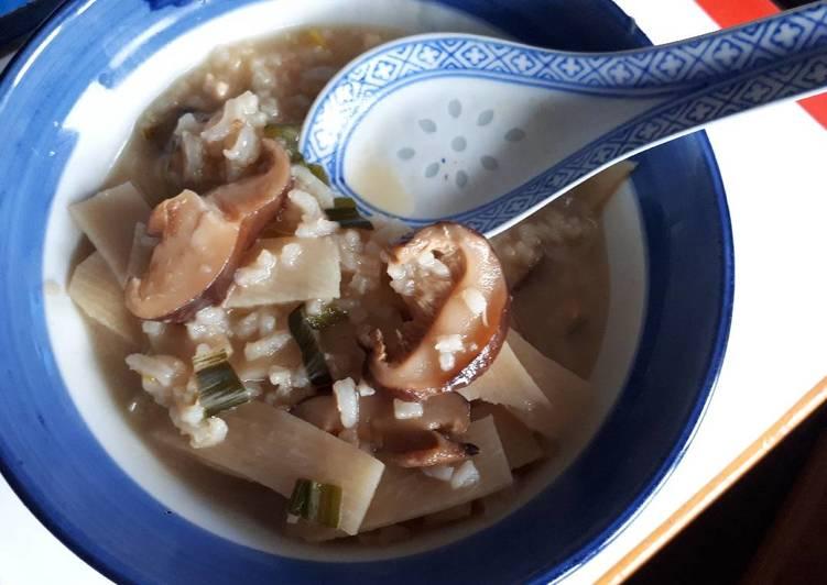 Recette Délicieuse Rice soup 2 aux bambous