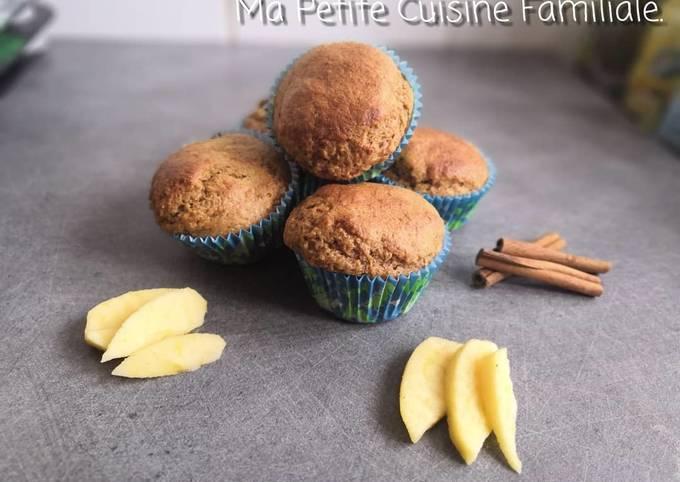 Muffins light, pommes et cannelle