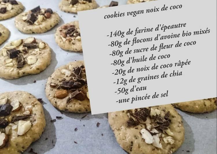 Cookies vegan à la noix de coco