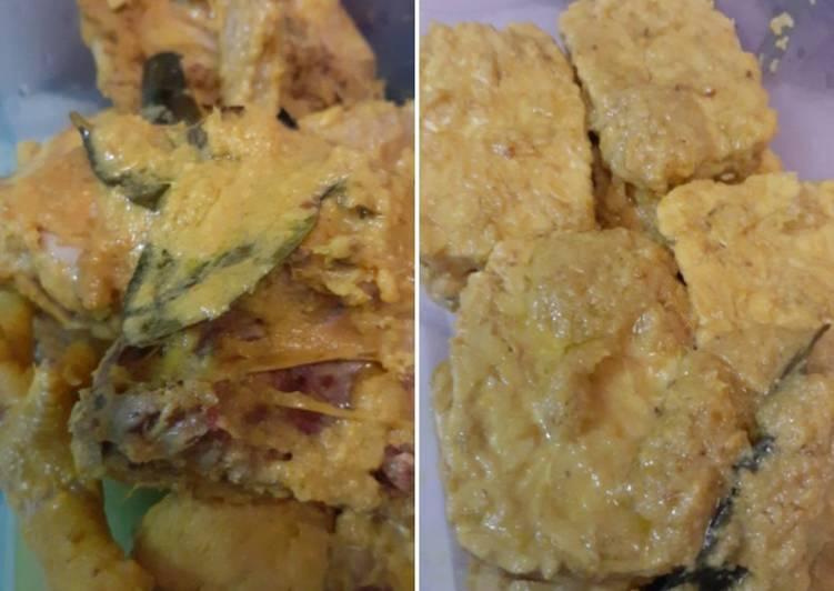 Ayam & tempe ungkep