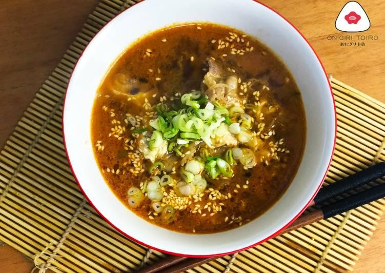 Cara Gampang Menyiapkan Sup Daging Korea 韓国風牛カルビスープKorean Beef Rib Soup, Lezat Sekali