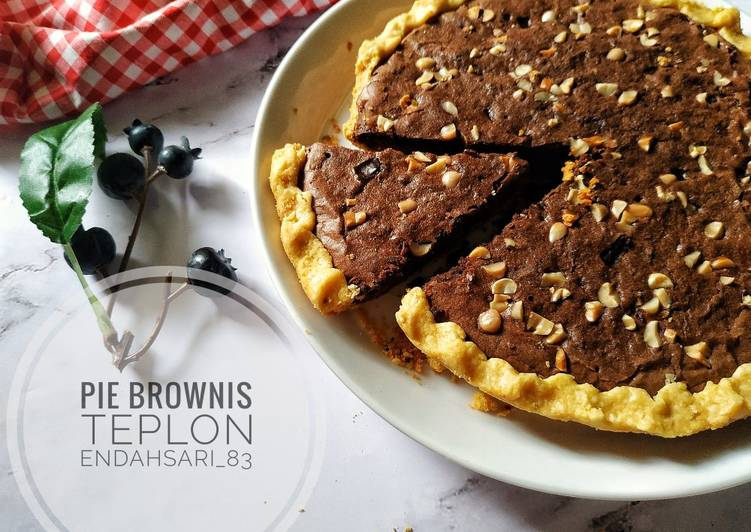 Resep Pie Brownis Teplon Paling Gampang