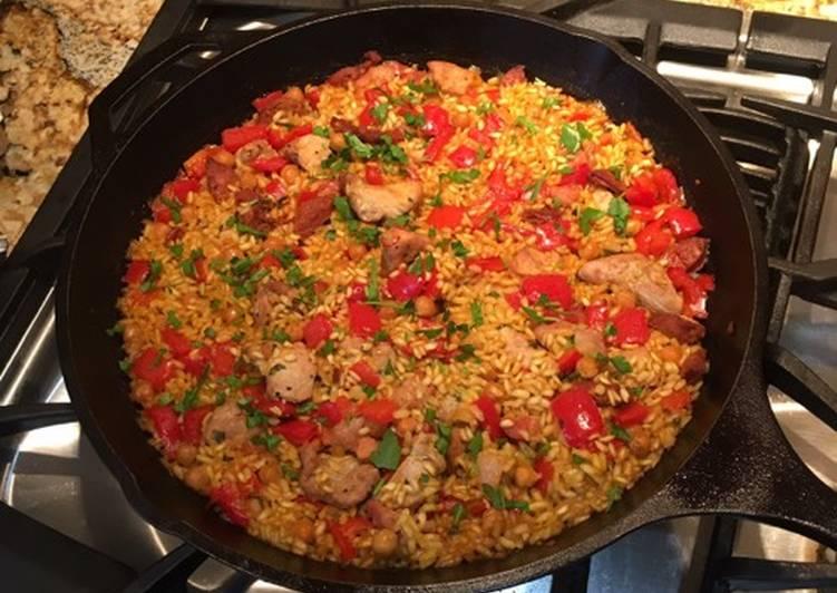 Chorizo and Chicken Paella