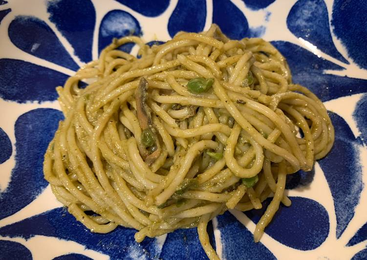 Steps to Make Recipe of Favorite Organic Vegan Basil Pesto Pasta Recipes