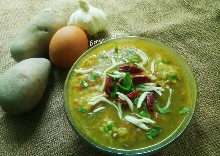 Egg Potato Mung Dal 💛