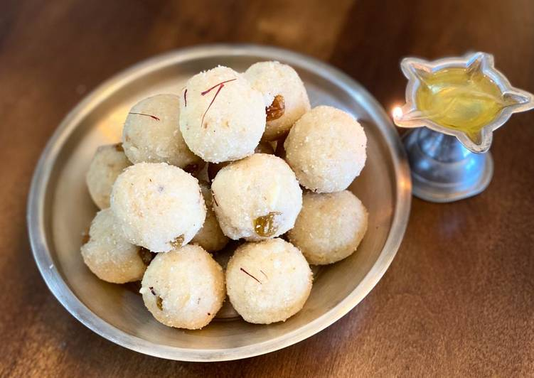 The Best Soft and Chewy Dinner Easy Vegan Rava ladoo