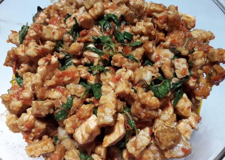 9 Resep: Balado tempe+ayam kemangi yang Bikin Ngiler!