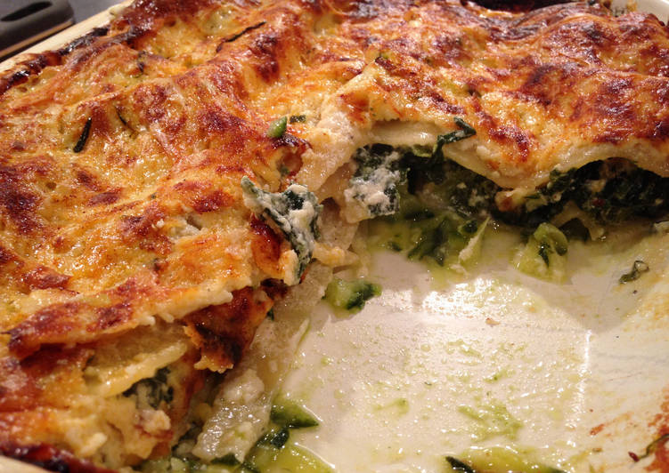 Courgette and Spinach Lasagne