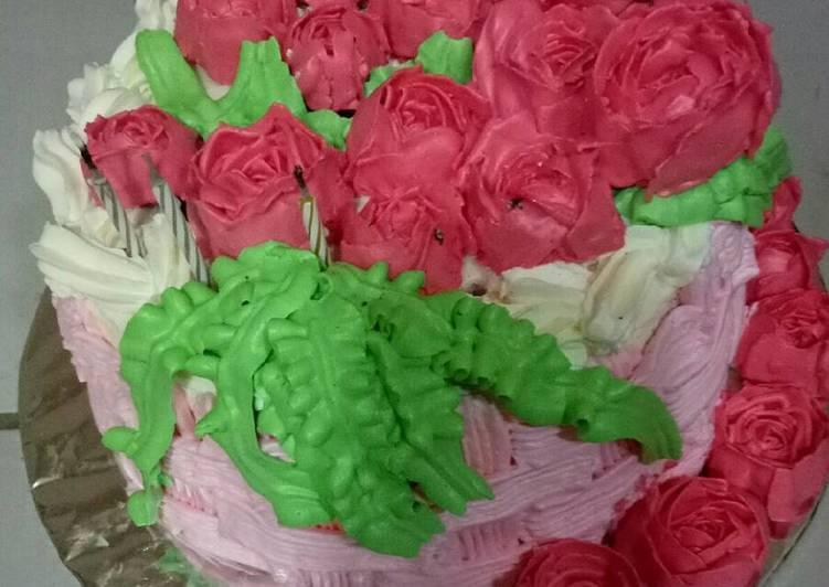 Birthday cake / base rainbow cake - cookandrecipe.com