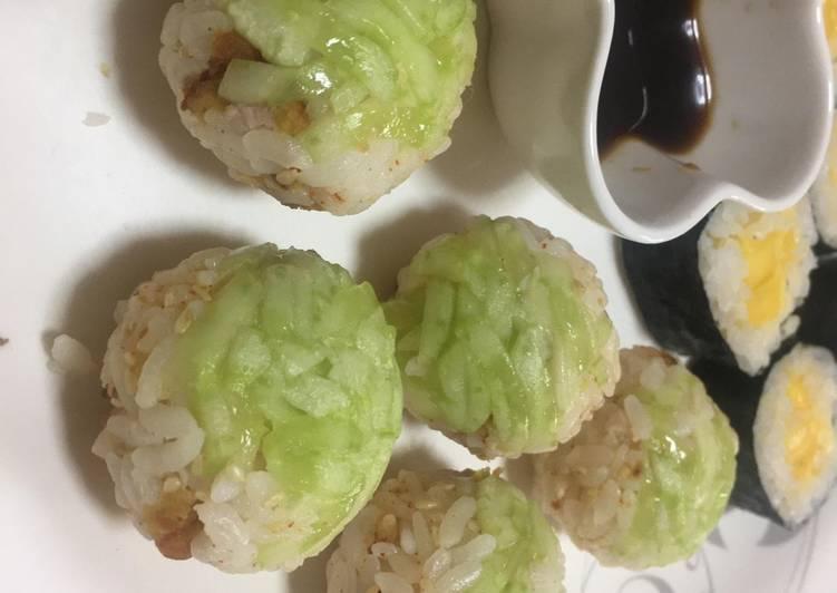 Cucumber- Chicken Temari sushi