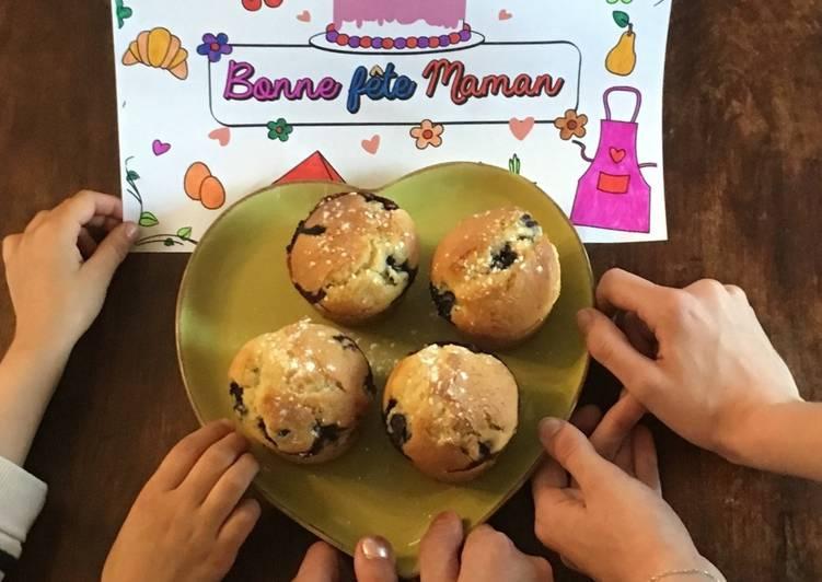 Comment Faire Des Muffins à la myrtille faits par mes 3 filles ❤️❤️❤️ spéciale fête des mères