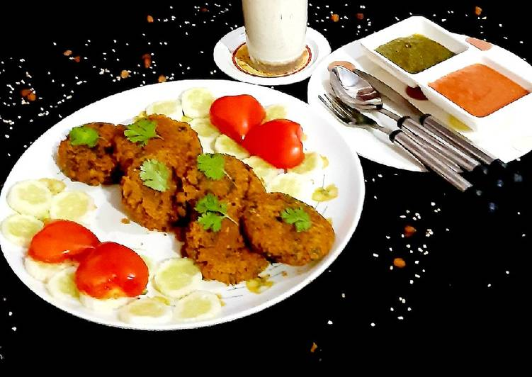 Simple Way to Make Any-night-of-the-week Stuffed Cutlet with Daliya+Kala Chana