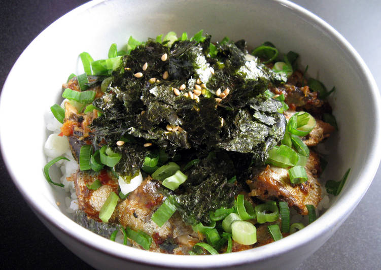 Canned Sardines Rice Bowl