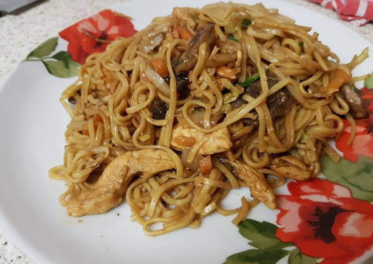 My Ginger Chicken stirfry Noodles