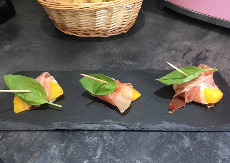 Turn to Food to Elevate Your Mood Peach and Serrano Ham