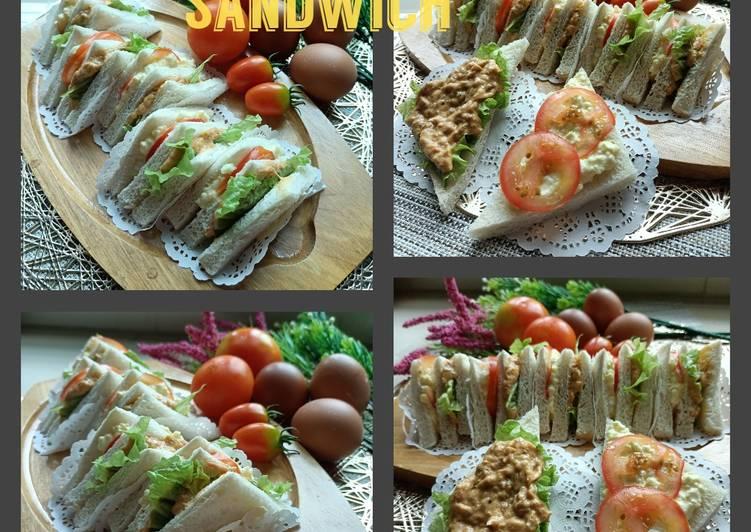 Resepi:  Scramble Egg Tuna Sandwich  Terbaru