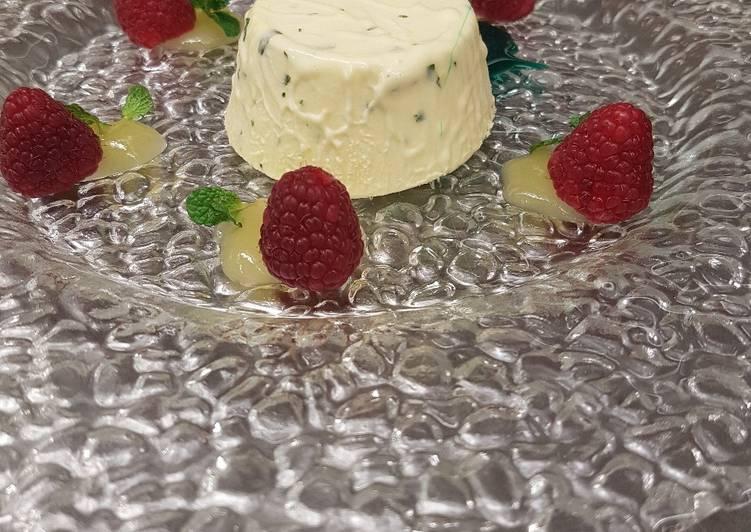 Ricetta Semifreddo al limone e basilico con gel agli agrumi