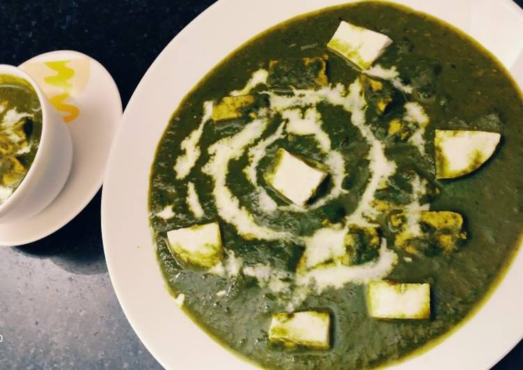 Recipe of Award-winning Palak paneer