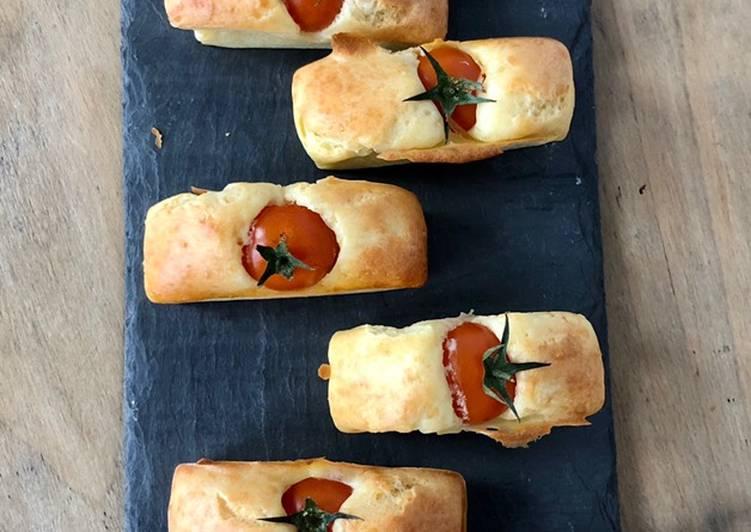 recette Cake aux tomates cerises et chèvre délicieux
