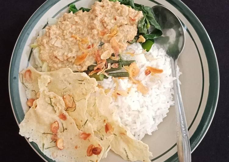 Nasi Pecel Sambal Tumpang