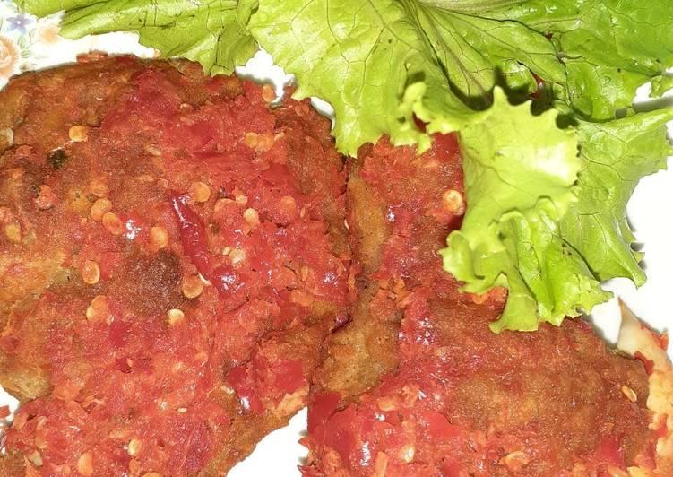 Ayam Geprek rumahan (bahan simpel)