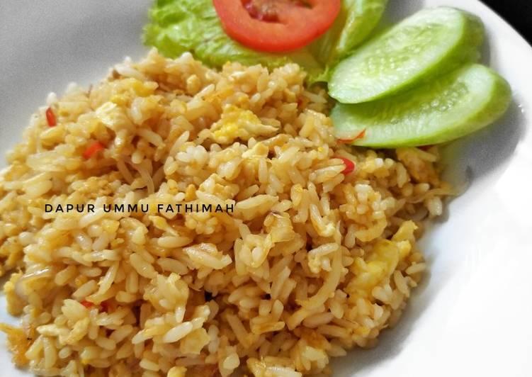 Nasi Goreng Udang Rebon & Teri Medan