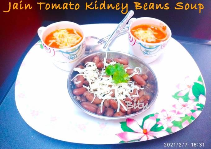 Jain Tomato Kidney Beans Soup