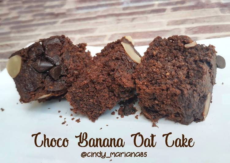 Choco Banana Oat Cake