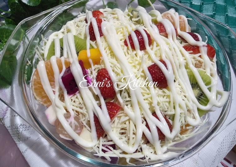 Salad Buah Mayonaise (FRUITS) - cookandrecipe.com