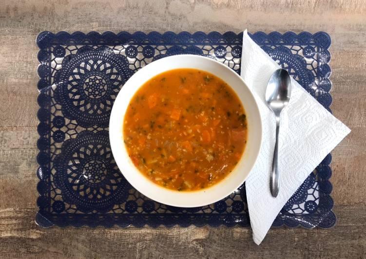 Recette Appétissante Soupe légumes et avoine 🥣👍😍
